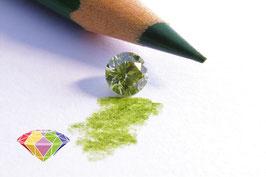 Natural 0.57 ct - Brilliant - Fancy Greyish Greenish Yellow Chameleon - SI2