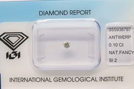 IGI 0,10 Carat Fancy light Yellow Grey SI2 355938797 Natural Diamond