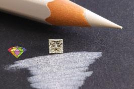 Natural Diamond 0,26 Carat J SI1 Princess cut