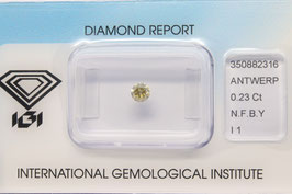 IGI 0,23 Carat Fancy Brownish Yellow I1 350882316 Natural Diamond