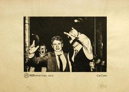 Sérigraphie d'art Temeritas, atis Edition Kraft d'après une photo de CarCam