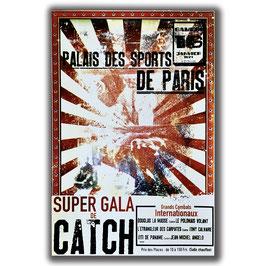 "Affiche ""Super gala de catch"" de l'artiste Raynald Najosky"