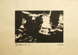 Sérigraphie d'art Solitudo, inis Edition Kraft d'après une photo de CarCam