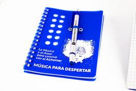Libreta + Bolígrafo Táctil Música para Despertar