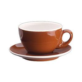 Roma Milchkaffeetasse marone