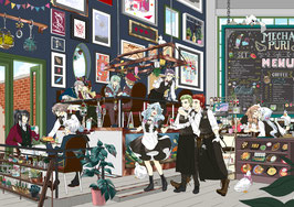 "A4 Print ""MechaPuri Cafe"""
