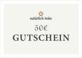 natürlich imke | Geschenk-Gutschein 50€