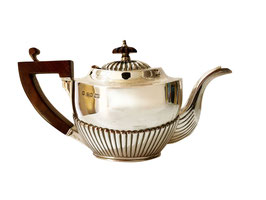 Echtsilber-Teekanne Queen Anne