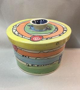"runder Brottopf Brotdose ""Mora""  aus Keramik  für den Haushalt im Design crazy"