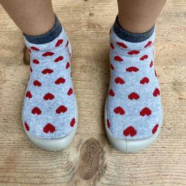 Chaussons chaussettes hearts  - Collégien