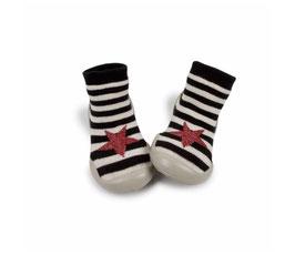 Chaussons chaussettes Vivienne rayé étoile - Collégien