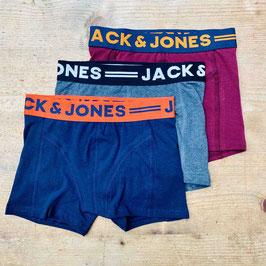 Lot de 3 caleçons unis - Jack & Jones