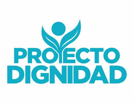 Bandera del Proyecto Dignidad - Fondo Blanco (Poly 3'x5')