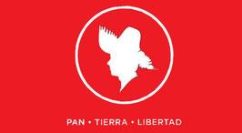 Bandera del Partido Popular Democrático (PPD) - Círculo Blanco/Fondo Rojo