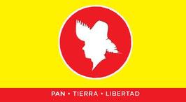 Bandera del Partido Popular Democrático (PPD) - Fondo Amarillo/Franja Roja