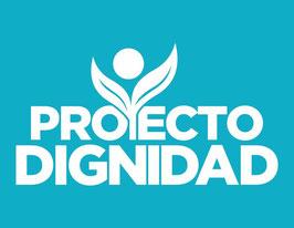 Bandera del Proyecto Dignidad - Fondo Turquesa (Poly 3'x5')
