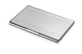 Porte-cartes en aluminium argenté