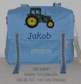 KIGA-Tasche - Traktor gestickt
