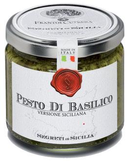 PESTO DI BASILICO VERSIONE SICILIANA  190 G - FRANTOI CUTRERA SEGRETI DI SICILIA