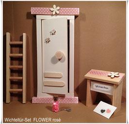 "Wichteltür-Set ""FLOWER (rosè)"""
