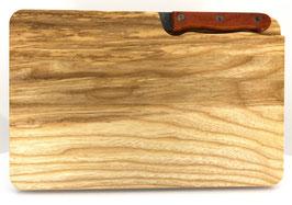Esche-Schneidebrett mit Speckmesser