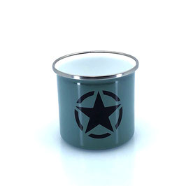 """Emaille-Tasse """"Army"""""""