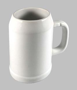 Bierkrug weiß 0,5 l