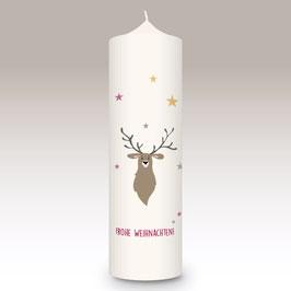 Weihnachtskerze Elch