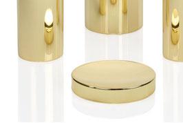 Metall-Seifenschale, goldfarben