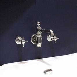 Unterputz Nostalgie Waschtisch-/Küchenarmatur BRIDLINGTON, Silber-nickel - SALE %