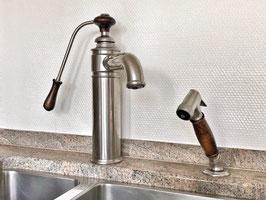 1-Loch Küchenarmatur ESTELLE (HERBEAU) mit separater Handbrause