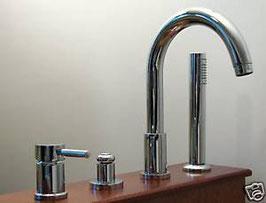 Design Hebelmischer 4-Loch Badewannen-Armatur OXO, Chrom - SALE %