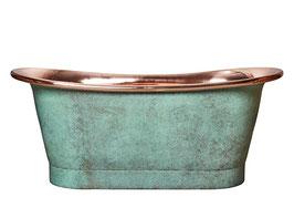 Kupferbadewanne EAST END 1890 - kupfer/patina