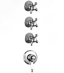 Thermostat Unterputz Badewannen-/Duscharmatur mit 3-Wege-Ventilen, BRIGHTON