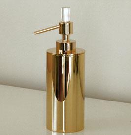 """Design Seifenspender, mit SWAROVSKI Elements Kristall, Serie """"DAUPHIN"""", Farbe Gold"""