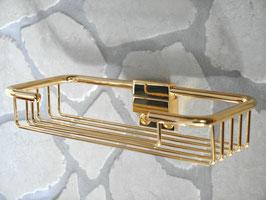 Schwammkorb/Ablage für Dusche/Badewanne aus Metall, 24 Karat vergoldet