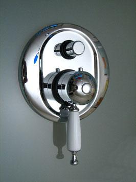 Unterputz Badewannen-/Duscharmatur mit Umstellerventil BRIGHTON Thermostat