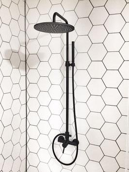 Aufputz Duschanlage mit Kopfbrause OXO