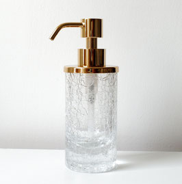Exklusiver Design-Seifenspender AUMONT, massiver Glasbehälter im Craquelé-Look