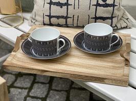 "kleines Holztablet ""GARTENLIEB"", Holz/Leder,  40x30x2"