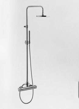 Aufputz Duschthermostat mit Ständerwerk mit 200 mm, 250mm oder 300mm Kopfbrause, OXO II