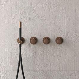 Design Unterputz Thermostat-Badewannenarmtur COBBER ohne Auslauf, mit Stabhandbrause