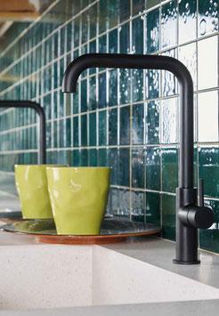 1-Loch Küchenarmatur OXO mit eckigem Auslauf und großer Ausladung