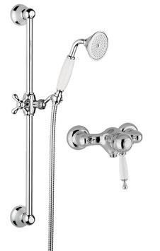 Aufputz Duschanlage komplett mit Duscharmatur BRIGHTON Thermostat
