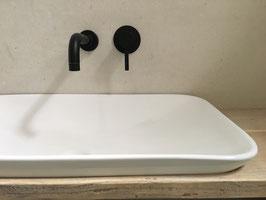 Unterputz Waschtischarmatur OXO, 230 mm Auslauf, schwarz - SALE %, mit Beschädigung am Auslauf
