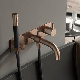 Design Unterputz Badewannenarmtur COBBER mit Auslauf