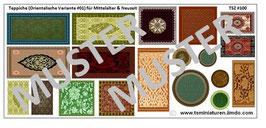 1:72 Mittelalter Muslim & Saracenen Teppiche #01