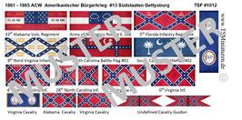 1:72 ACW #13 Südstaaten Gettysburg