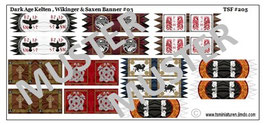 1:72 Dark Age Fahnen Celtic & Viking Banners #03
