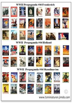 1:72 WWII Propaganda Plakate #06 Frankreich & Holland